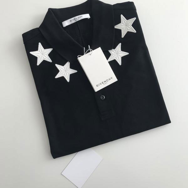 Star Appliqué Cuban Fit Polo T Shirt