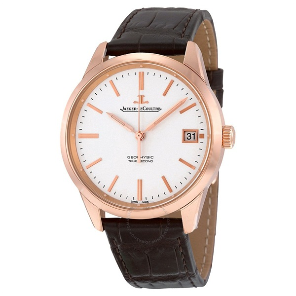 Geophysic Date Automatic Silver Dial Brown Leather Men s Watch