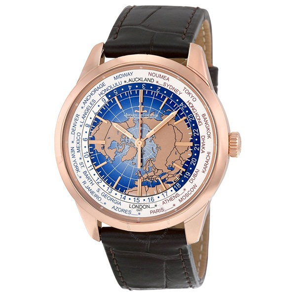 Geophysic Universal Time Automatic Blue Lacquer Dial 18kt Pink Gold Men s Watch